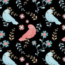 #1028 Folk Art Birds