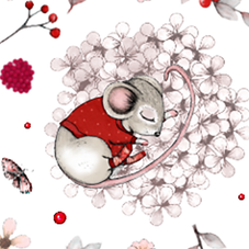 #1166B Mouse & Berries