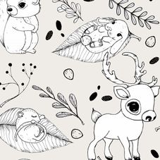 #1201D Woodland Friends